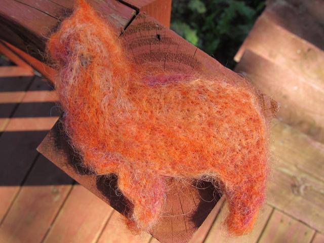 Felted Alpaca Ornament